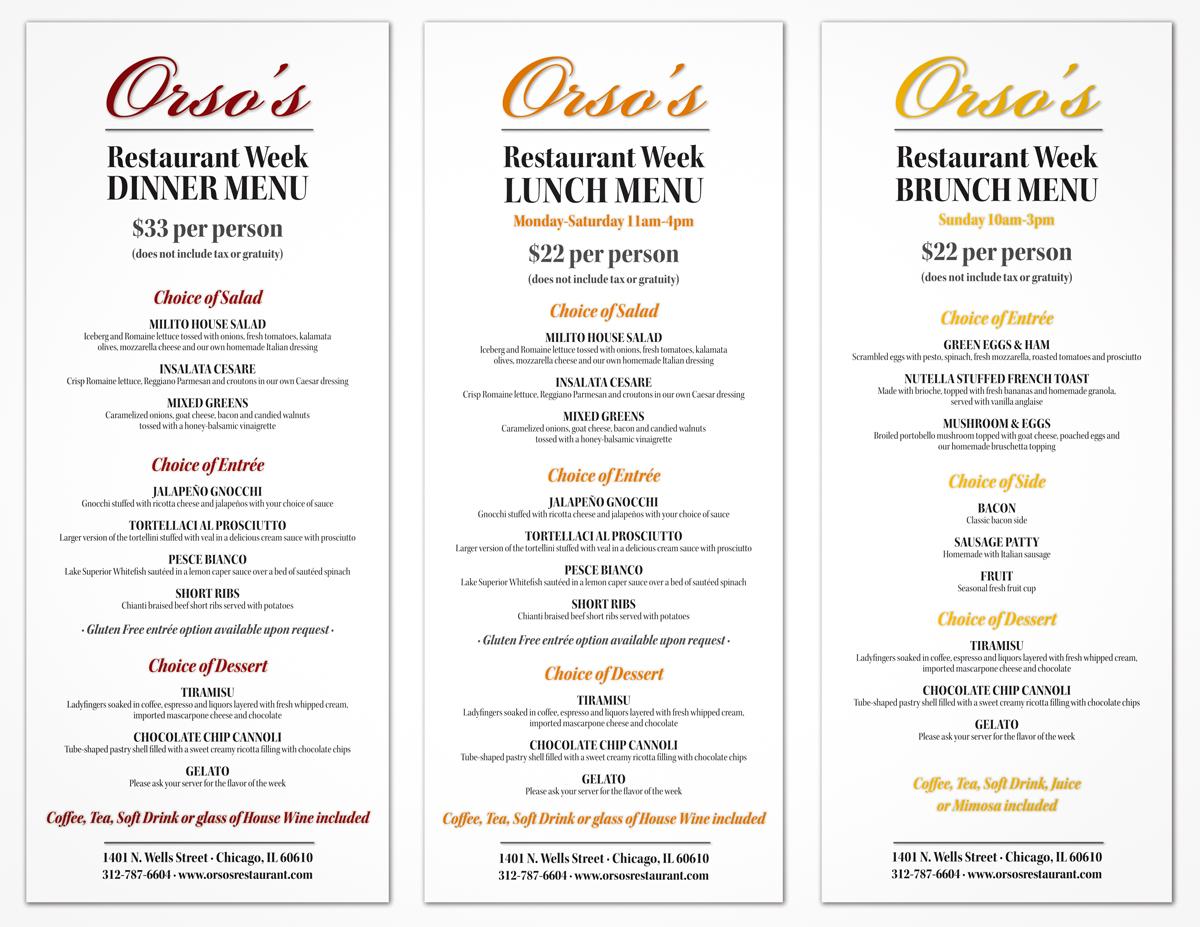 Upcoming events orsos restaurant for 010 cuisine weekmenu